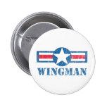 Wingman Vintage Pinback Buttons