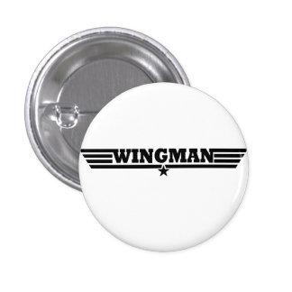 Wingman Wings Logo 1 Inch Round Button