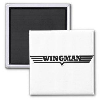 Wingman Wings Logo 2 Inch Square Magnet
