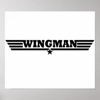 Wingman Wings Logo Poster