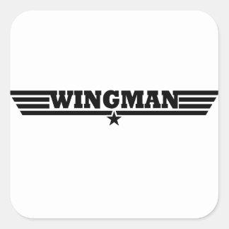 Wingman Wings Logo Square Sticker