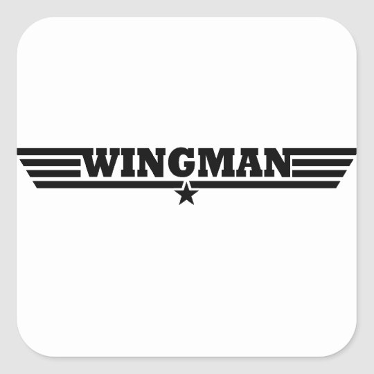 Wingman Wings Logo Square Sticker