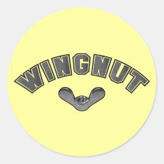 WINGNUT CLASSIC ROUND STICKER