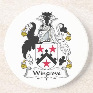 Wingrove Family Crest Beverage Coaster