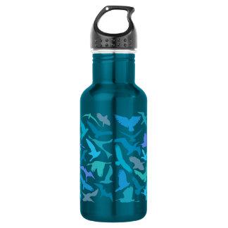Wings 18 oz. Electric Blue Stainless Steel Water Bottle