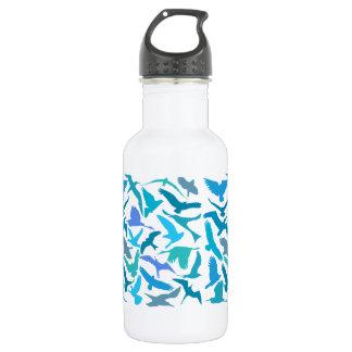 Wings 18 oz. White Stainless Steel Water Bottle