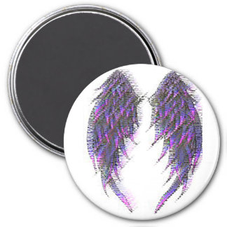 WINGS 3 INCH ROUND MAGNET