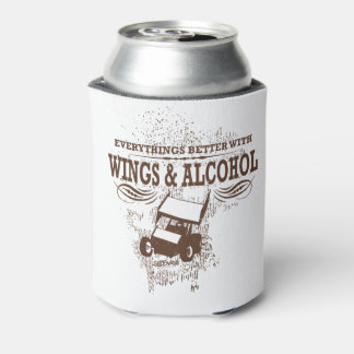 Wings & Alcohol Can Can Cooler
