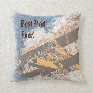 Wings Aloft Father's Day throw pillow Throw Pillow