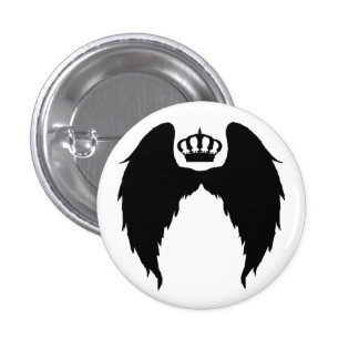 Wings and Crown Flair 1 Inch Round Button