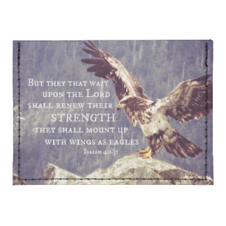 Wings as Eagles Bible Verse Tyvek® Card Wallet