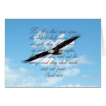 Wings as Eagles, Isaiah 40:31 Christian Bible Greeting Card