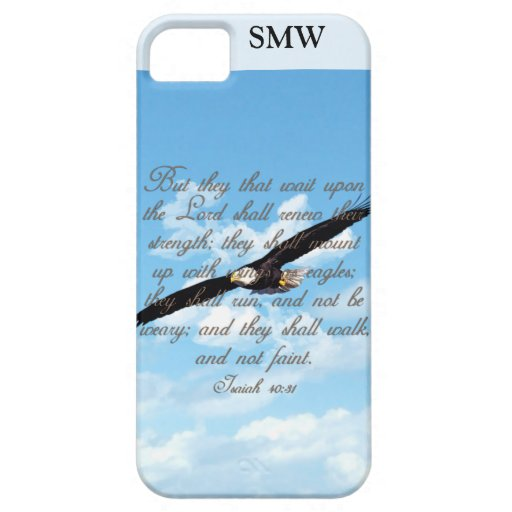 Wings as Eagles, Isaiah 40:31 Christian Bible iPhone 5 Case