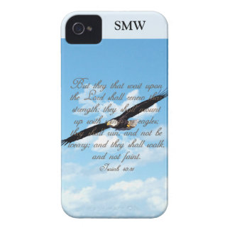 Wings as Eagles, Isaiah 40:31 Christian Bible iPhone 4 Case
