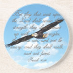 Wings as Eagles, Isaiah 40:31 Christian Bible Drink Coaster