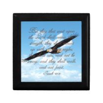 Wings as Eagles, Isaiah 40:31 Christian Bible Jewelry Box