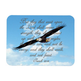 Wings as Eagles, Isaiah 40:31 Christian Bible Magnet