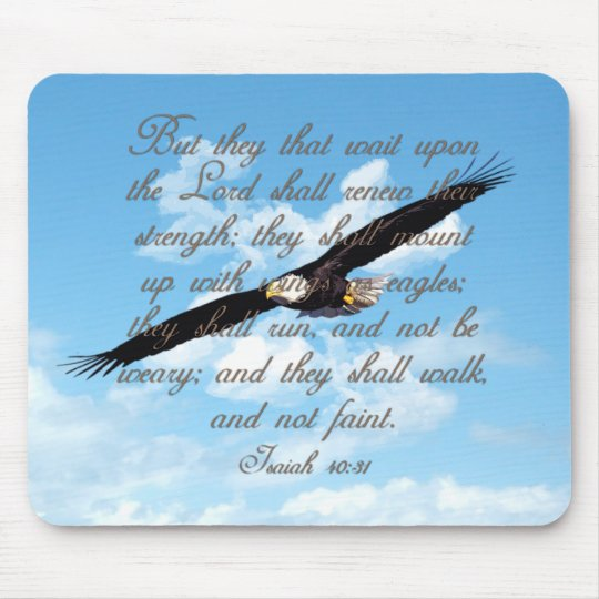 Wings as Eagles, Isaiah 40:31 Christian Bible Mouse Pad
