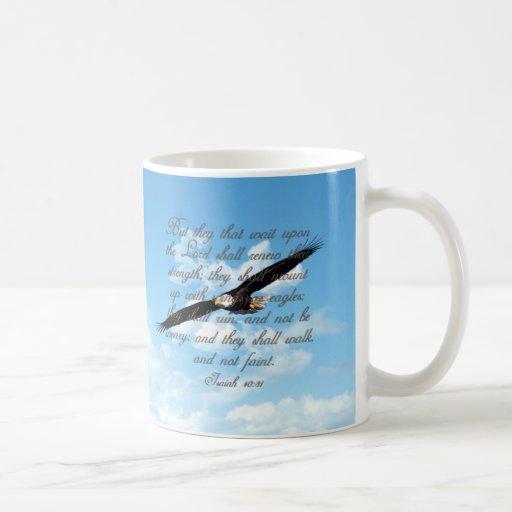 Wings as Eagles, Isaiah 40:31 Christian Bible Mug