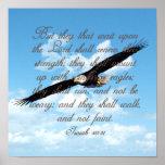Wings as Eagles, Isaiah 40:31 Christian Bible Print