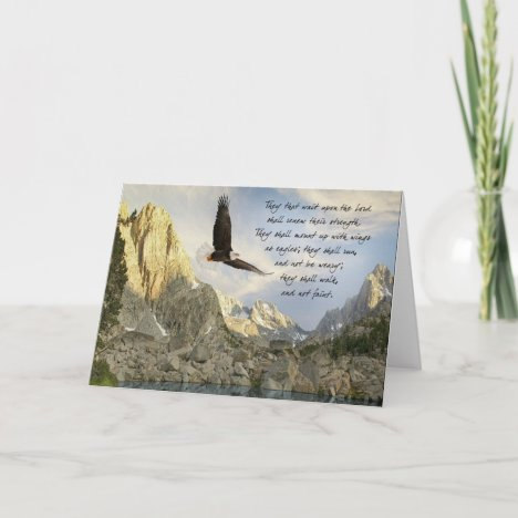 Wings As Eagles Isaiah 4o:31 Card
