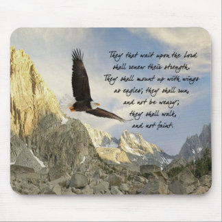 Wings As Eagles Isaiah 4o:31 Mouse Pad