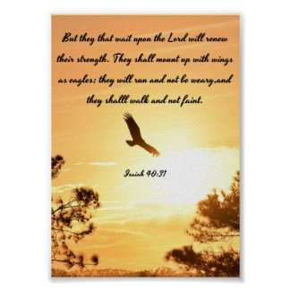 Wings As Eagles - Isaiah Poster - Bible Verses