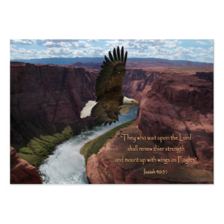Wings as Eagles Scripture Wallet Cards Large Business Cards (Pack Of 100)