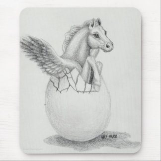 'Wings' Baby Pegasus, Flying Horse Collection Mouse Pads