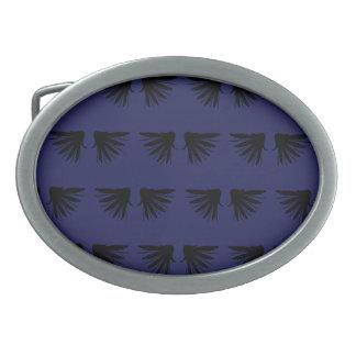 Wings Black Purple Belt Buckles