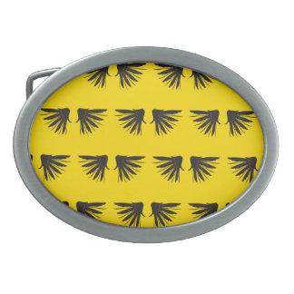 Wings Black Yellow Belt Buckle