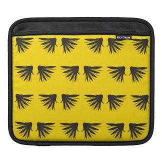 Wings Black Yellow iPad Sleeves