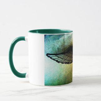 wings by jill high contrast print mug