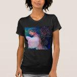 Wings del pavo real de señora de la dualidad camiseta