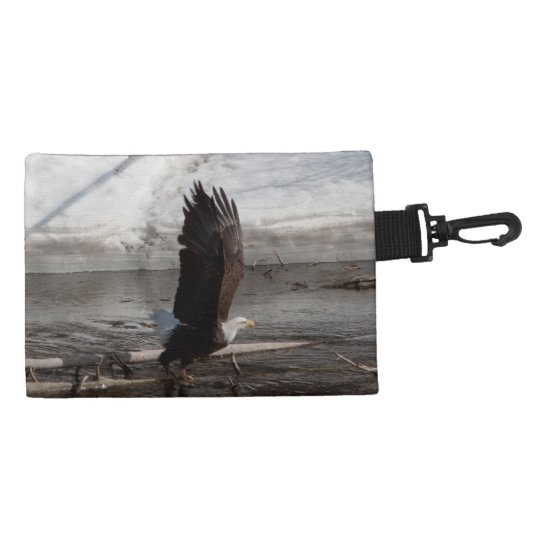 Wings Extended Bald Eagle Accessory Bag