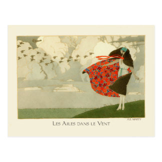 Wings in the Wind by Marty Postcard