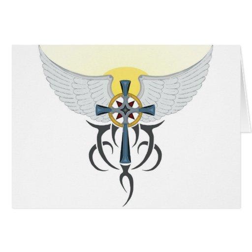wings.jpg cruzado tarjeta de felicitación
