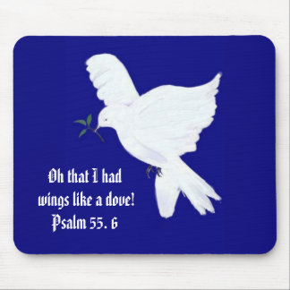Wings like a Dove-Bible Quote Mouse Pad