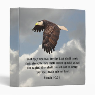 WINGS LIKE EAGLES 3 RING BINDER