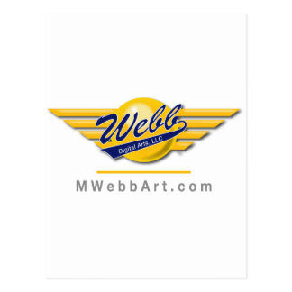 Wings logo with URL Postcard