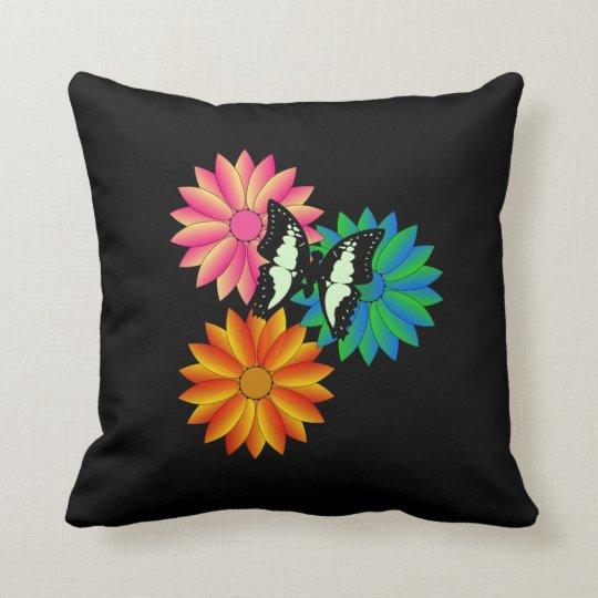 Wings n Petals Throw Pillow