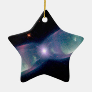 Wings of a butterfly nebula ceramic ornament