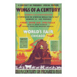 Wings of A Century Chicago World's Fair Poster