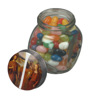 Wings of a triptych by Hans Memling Jelly Belly Candy Jars