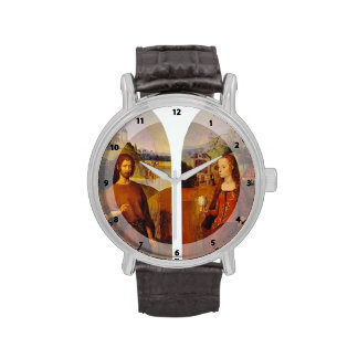 Wings of a triptych by Hans Memling Wristwatch