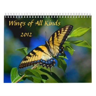 Wings of All Kinds 2012 Calendar