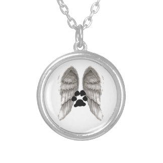 Wings Of An Angel Round Pendant Necklace