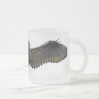 Wings of Anarchy Frosted Glass Mug