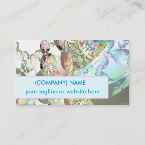 Wings of Angels Amethyst Crystal Abstract Fractal Business Card