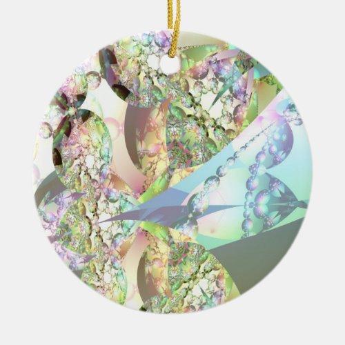 Wings of Angels – Celestite & Amethyst Crystals 2 Ceramic Ornament